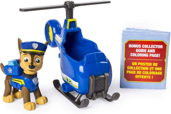 paw patrol ultimate rescue chase's mini helicopter with collectible figure