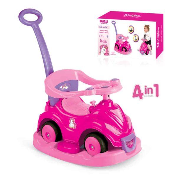 4-in-1 unicorn smile car dolu