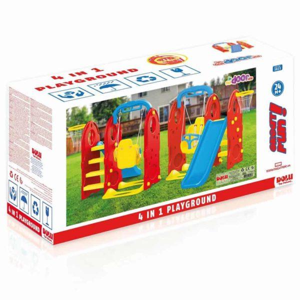 مجموعة لعب خارجي للأطفال 4 فى واحد من دولو