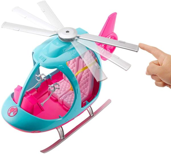 Barbie Travel Pink and Blue Helicopter