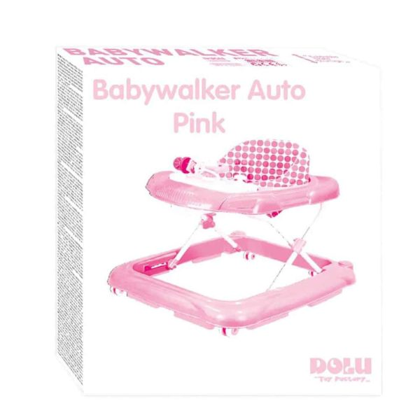 dolu baby walker pink with music
