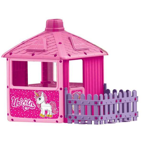 منزل مدينه اللعب مع حواجز جميلة -زهري اللون