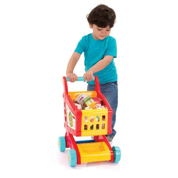 shopping cart with accessories fisher price