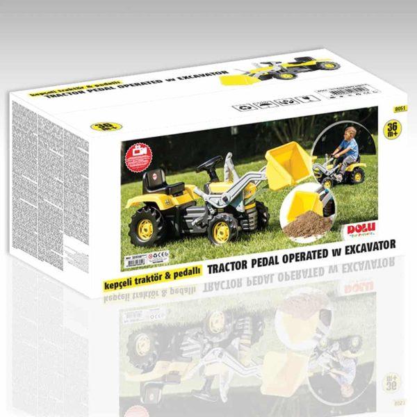tractor pedal excavator dolu