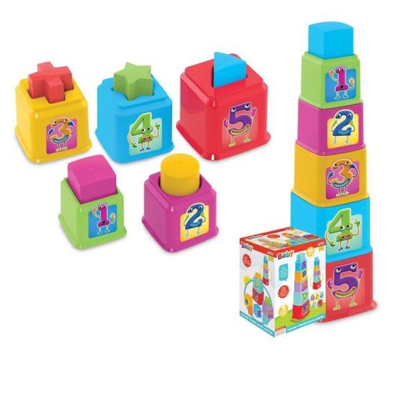 square tower shape sorter dede