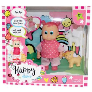 16CM Happy Babies Walking Doll With Pet