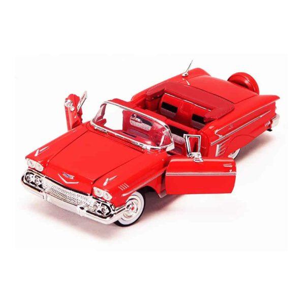 سيارة تشيفي إمبالا (أزرق – أحمر) لسنه 1958من موتور ماكس