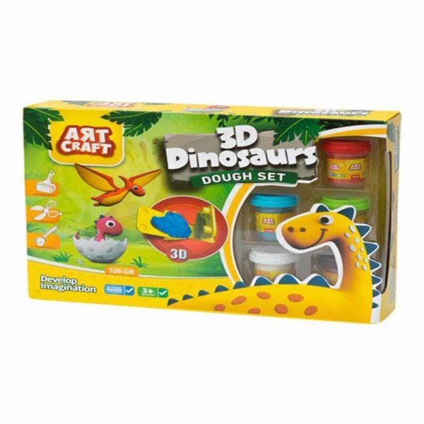 عجين الديناصور ثلاثي الأبعاد ديدي
