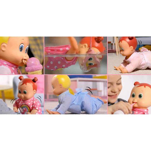 happy babies swimming doll 35cm dimian