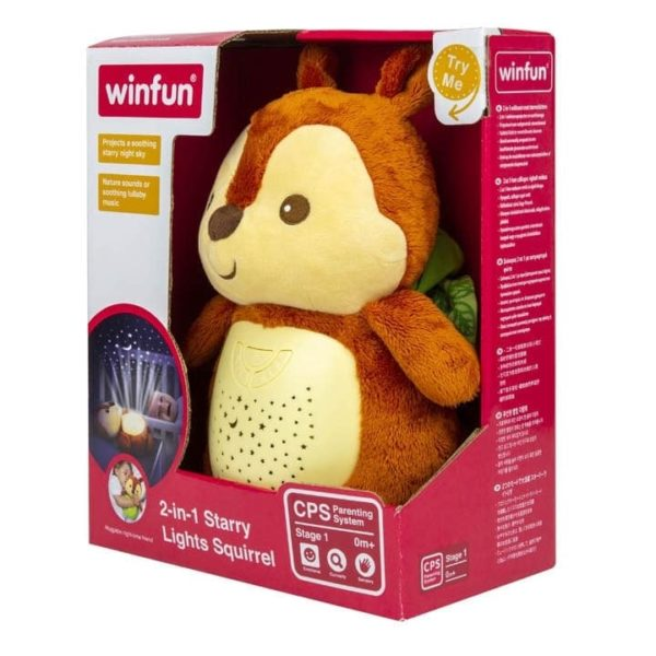 2 in 1 starry lights squirrel winfun
