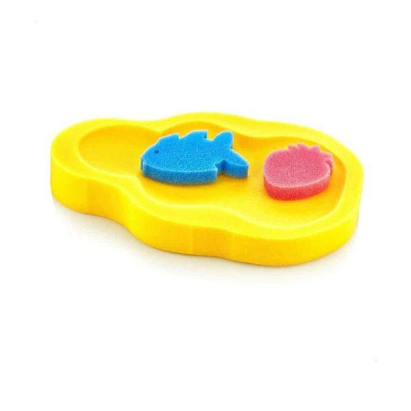 اسفنجة حمام الأطفال الصفراء من بيبى جيم