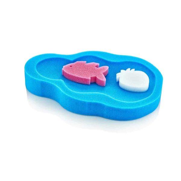 اسفنجة حمام الأطفال الزرقاء من بيبى جيم