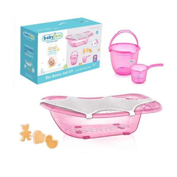 بانبو الاستحمام للطفل زهرى اللون من بيبى جيم