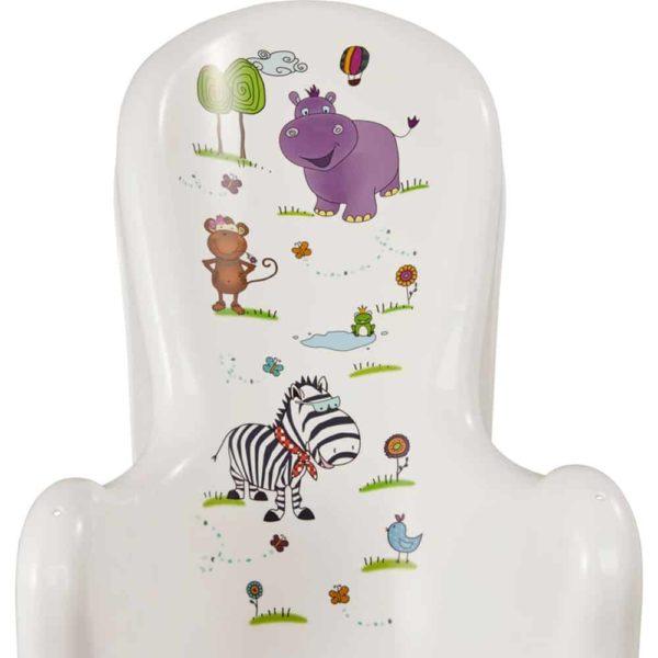 بانيو الطفل علي شكل كرسي بتصميم هيبو باللون الابيض من كيبر