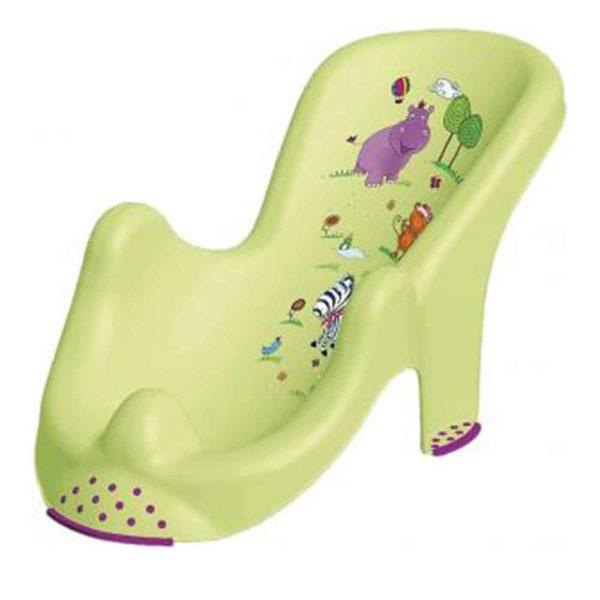 بانيو الطفل علي شكل كرسي بتصميم هيبو باللون الاخضر الليموني من كيبر