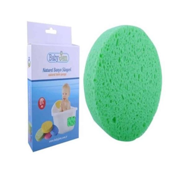 اسفنجة الاستحمام الأطفال الخضراء من بيبى جيم