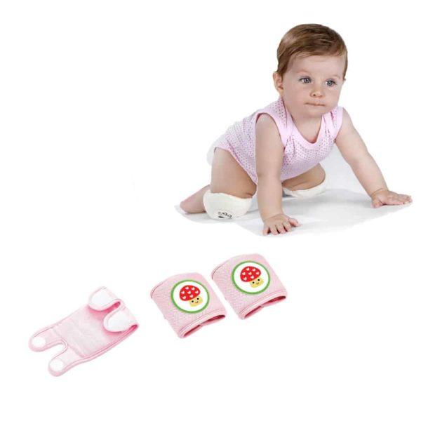 وسادة الركبة الوردية لرضع من بيبى جيم