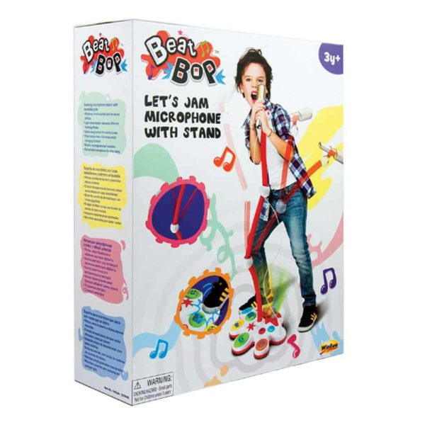 beat bop lets jam microphone & stand winfun