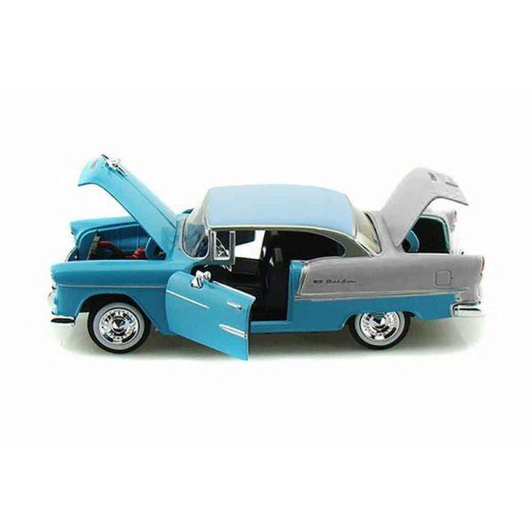 سيارة تشيفي بيل اير لسنه 1955 (أسود – أزرق فاتح) من موتور ماكس