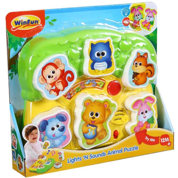 lights and sounds animal puzzle winfun