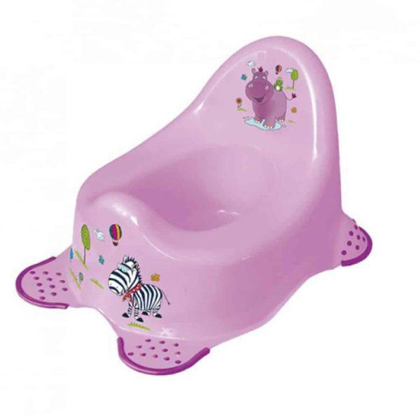 مقعد المرحاض بتصميم هيبو البنفسجي مانع للانزلاق من كيبر