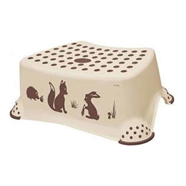 مقعد بتصميم حيوانات الغابة الكابتشينو مانع للانزلاق من كيبر
