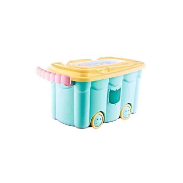صندوق ألعاب مربع أزرق مع حجلات من بيبى جيم