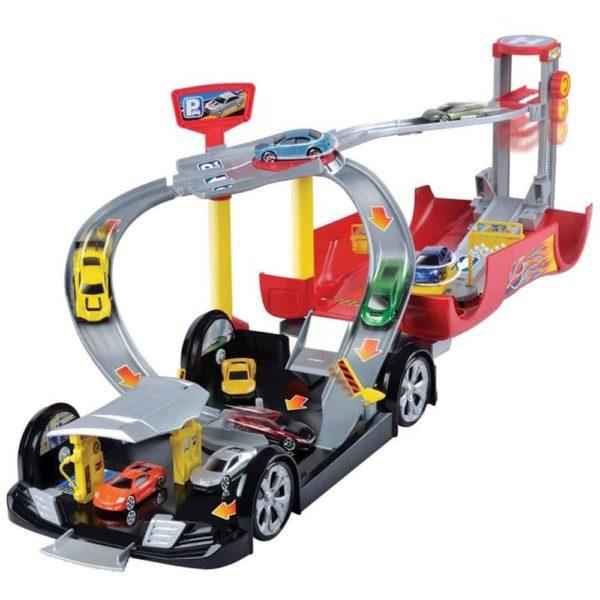 لعبة مرآب السيارة المتحول ، مع 2 سيارة من موتور ماكس