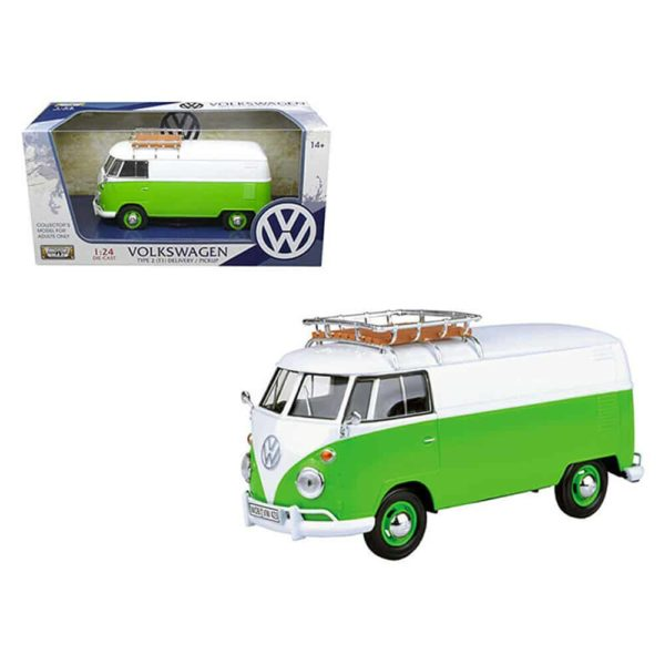 volkswagen t1 box wagon with roof rack by motormax
