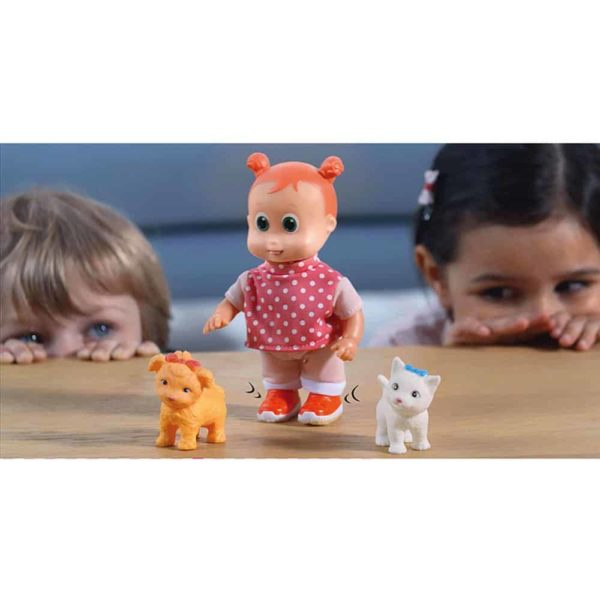 happy babies walking doll with pet 16cm dimian