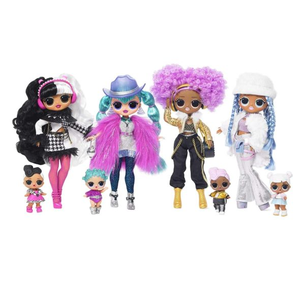 l.o.l surprise! o.m.g. winter disco snowlicious fashion doll & sister