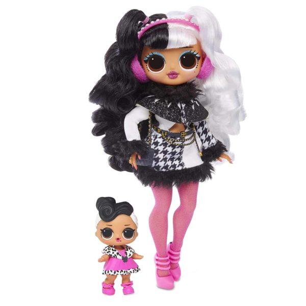 l.o.l surprise! o.m.g. winter disco dollie fashion doll & sister