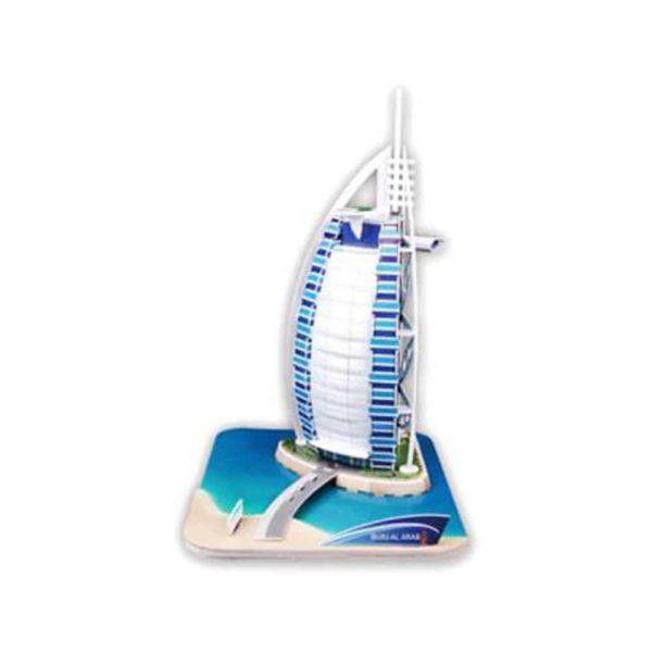 بازل ثلاثي الابعاد على شكل برج العرب(46 قطعة) من كيوبك فن