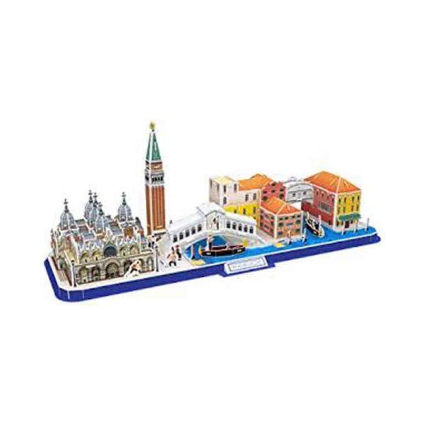 بازل ثلاثي الابعاد على شكل مدينة خط فينيسيا من كيوبك فن