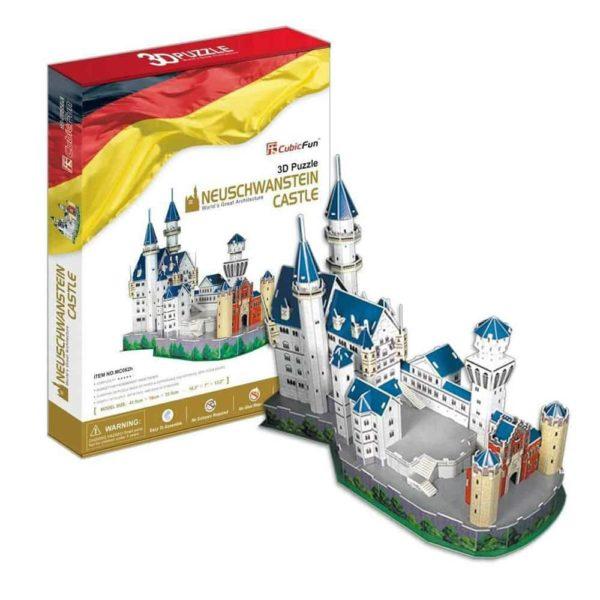 بازل ثلاثي الابعاد على شكل قلعة نويشفانشتاين (121 قطعة) من كيوبك فن