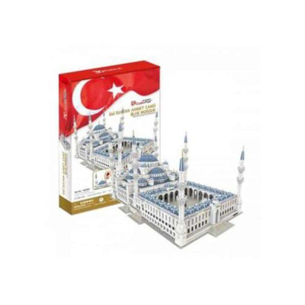 بازل ثلاثي الابعاد على شكل مسجد السلطان أحمد (321 قطعة) من كيوبك فن