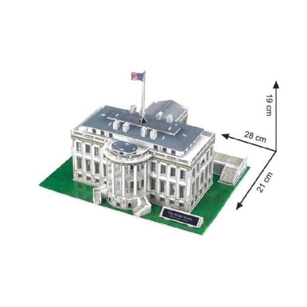 بازل ثلاثي الابعاد على شكل البيت الابيض (64 قطعة) من كيوبك فن