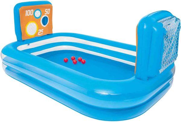 بيست واي – حمام سباحة مصحوب ب 5 كرات و2 مرمى تهديف 237سم*152سم*94سم