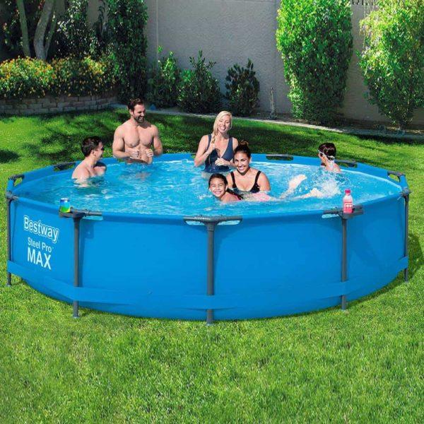 بيست واي – حمام سباحة برو ستيل ماكس دائري بسعة 6473 لتر 366سم*76سم