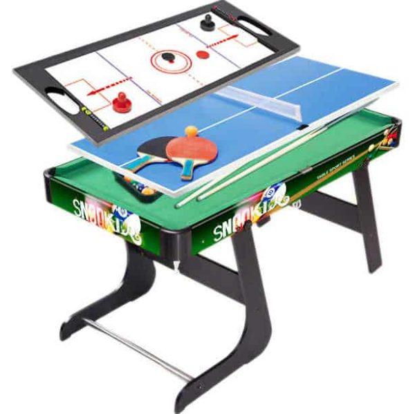 كراون – طاولة متعددة بينج بونج + هوكي + بلياردو قابلة للطي 80سم*42.5سم*50سم