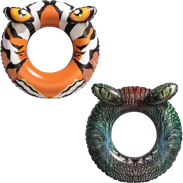 bestway's croc/tiger predator swim ring (91 cm)