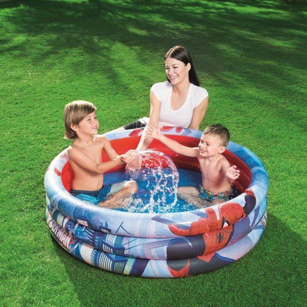 بيست واي – حمام سباحة بتصميم سبايدر مان عدد 3 دور 122سم*30سم