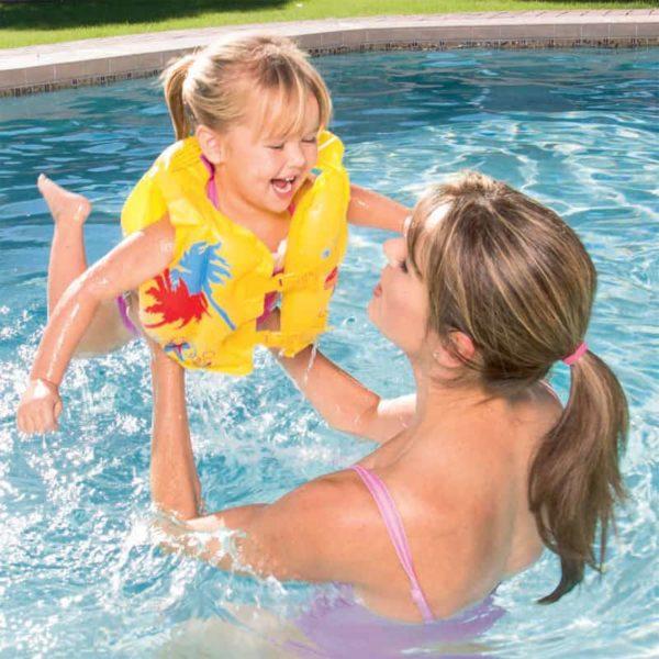 بيست واي – سترة سباحة للأطفال بتصميم استوائي (41سم * 30سم)