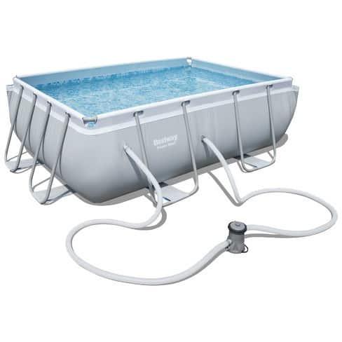 بيست واي – حمام سباحة باور ستيل مستطيل الشكل بسعة 3662 لتر 282سم*196سم*84سم
