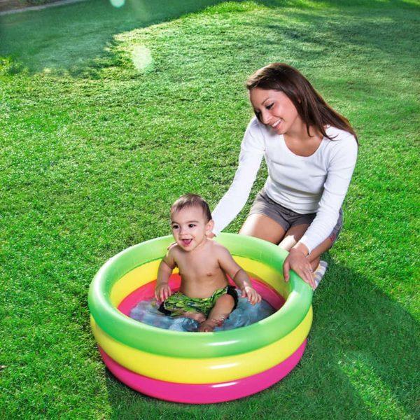 بيست واي – حمام سباحة دائري وملون عدد 3 دور 370سم * 24سم
