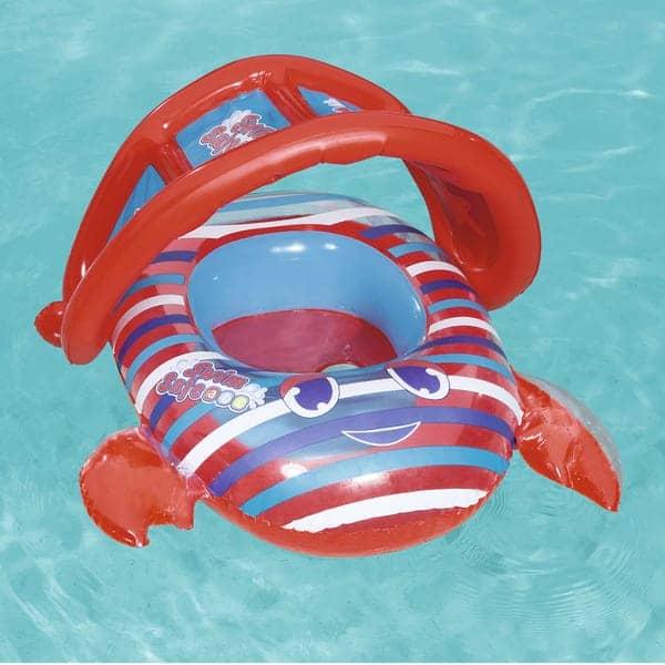 bestway's swim safe crab baby boat (86cm x 66cm)