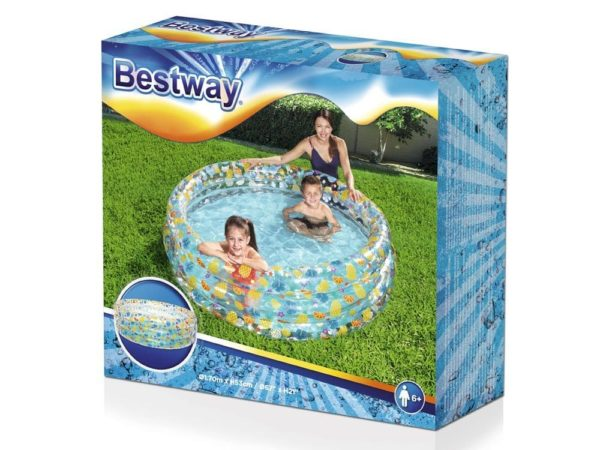 bestway's transparent sea life pool (170cm x 53cm)