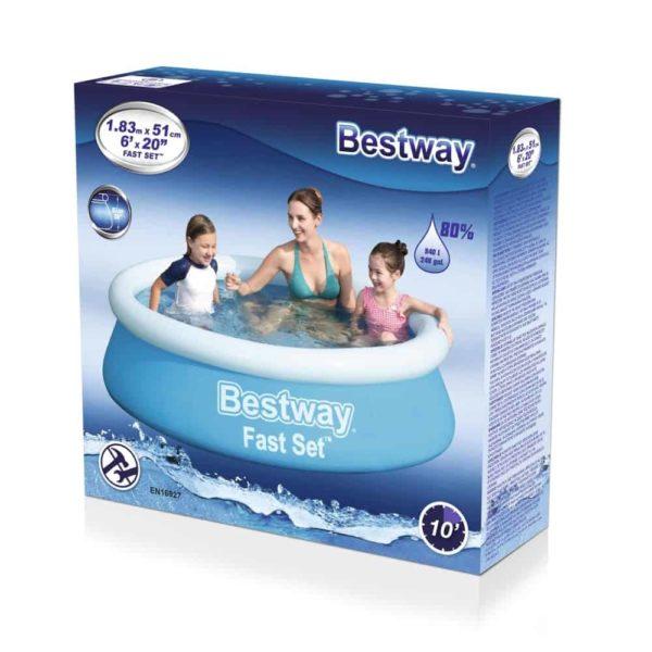 بيست واي – حمام سباحة سريع التركيب (183 سم*51سم)