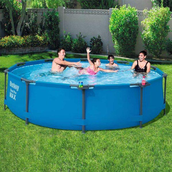 بيست واي – طقم حمام سباحة برو ستيل ماكس دائري 305سم*76سم