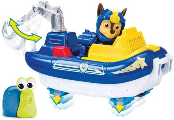 paw patrol sea patrol – chase's transforming vehicle and snail sea friend